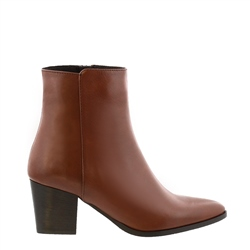 Carl Scarpa Salatina Tan Leather Mid Heel Ankle Boots