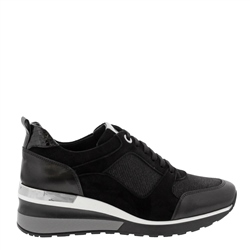 Carl Scarpa Nalani Black Wedge Trainers