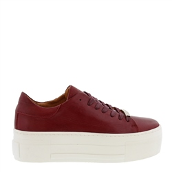 Carl Scarpa Polina Burgundy Leather Trainers