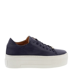 Carl Scarpa Polina Navy Leather Trainers
