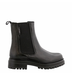 Carl Scarpa Selessia Black Leather Chelsea Boots