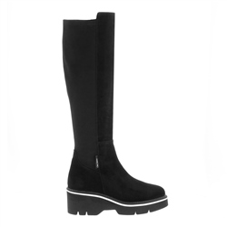 Carl Scarpa Madalena Black Suede Knee-High Boots