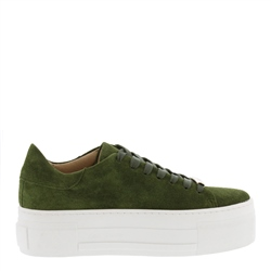 Carl Scarpa Polina Green Suede Platform Trainers