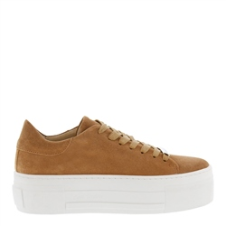 Carl Scarpa Polina Taupe Suede Platform Trainers