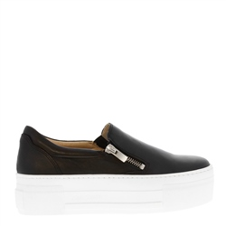 Carl Scarpa Roxanna Black Leather Platform Trainers