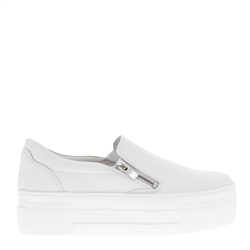 Carl Scarpa Roxanna White Leather Platform Trainers