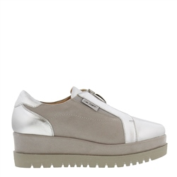 Carl Scarpa Charlize Silver Platform Trainers