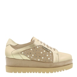 Carl Scarpa Chevelle Gold Platform Trainers