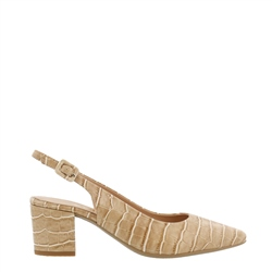 Carl Scarpa Shelby Beige Croc Leather Courts