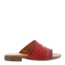 Carl Scarpa Volanta Red Leather Slip-On Sandals
