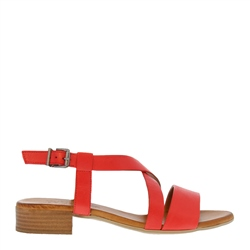 Carl Scarpa Oltretta Red Leather Sandals
