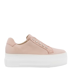 Carl Scarpa Romy Rose Leather Platform Trainers