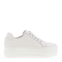 Carl Scarpa Romy White Leather Platform Trainers