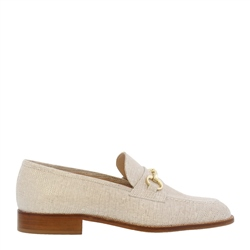 Carl Scarpa Tayana Beige Leather Loafers