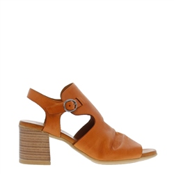 Carl Scarpa Novalie Tan Leather Block Heel Sandals