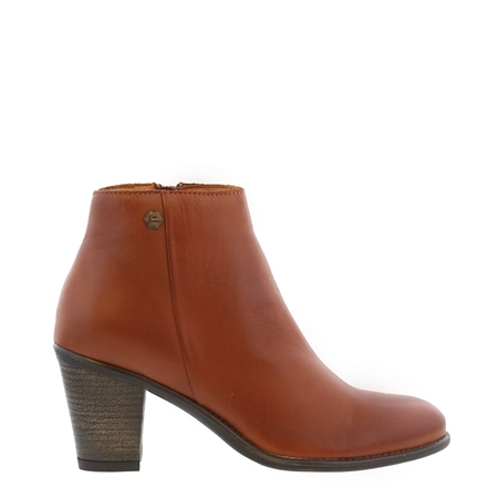 Indiana Brandy Mid Heel Ankle Boots