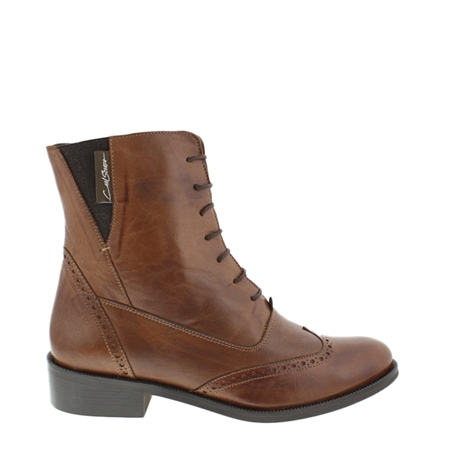 Ingrid Brandy Lace Up Brogue Ankle Boots