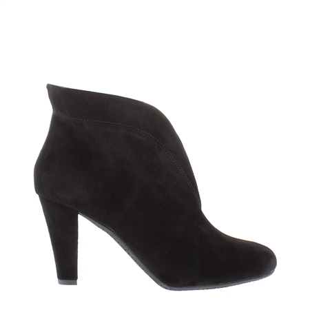 Belladona Black High Heel Ankle Boots  - Click to view a larger image