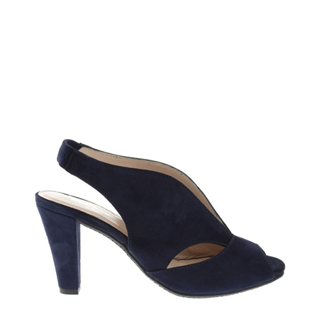 Delia Navy High Heel Courts  - Click to view a larger image