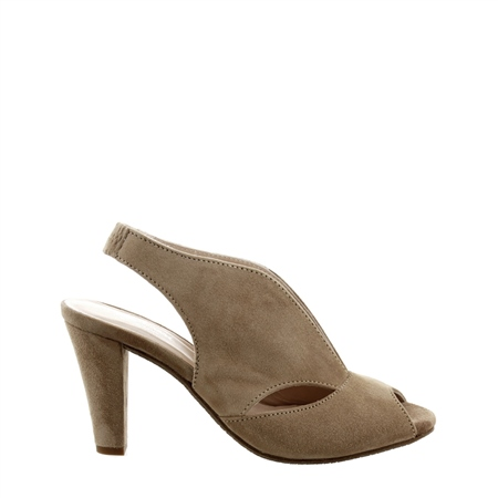 Delia Taupe High Heel Courts  - Click to view a larger image