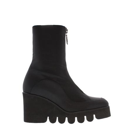 183ba18e4417 Black Platform Wedge Mid-Calf Ankle Boots - Marilyn