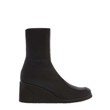 10a8cdb3ea47 Black Wedge Mid-Calf Ankle Boots - Martina