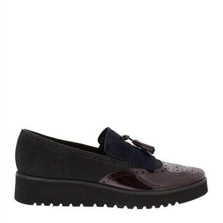 Ornella Burgundy Slip-On Loafers  - Click to view a larger image