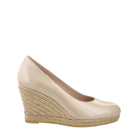 Vanetia Nude Slip-On Wedge Espadrille Courts  - Click to view a larger image