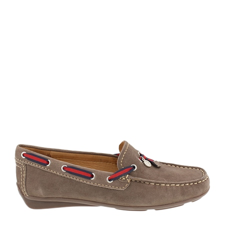 Faris Dark Taupe Slip-On Loafers   - Click to view a larger image