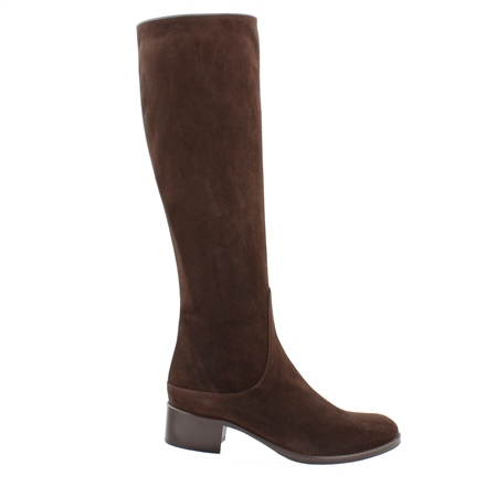 Eliza Brown Mid Heel Knee Boots  - Click to view a larger image