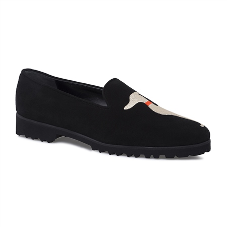Florentina Black Slip-On Greyhound Loafers  - Click to view a larger image
