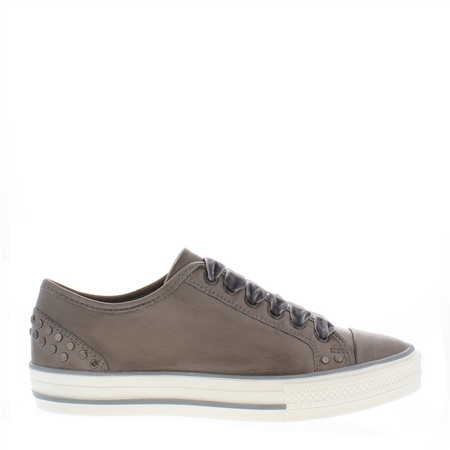 Grey Lace Up Leisure Shoes - Carlotta  - Click to view a larger image