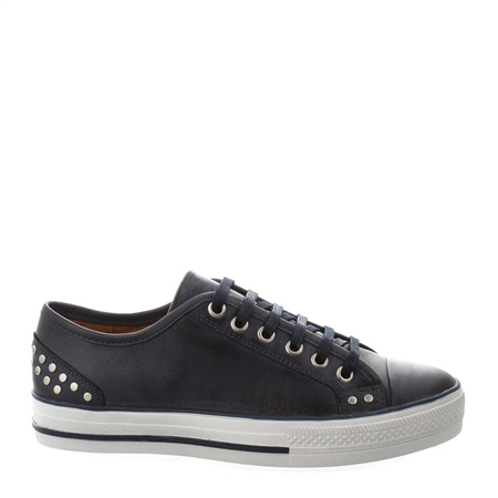 Carlotta Navy Lace Up Trainers