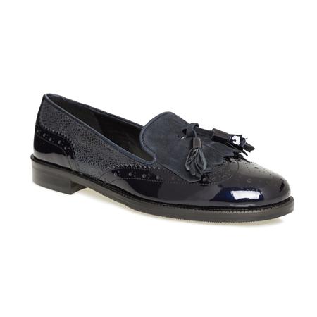 Navy Penny Fringe Tassel Loafers - Abra