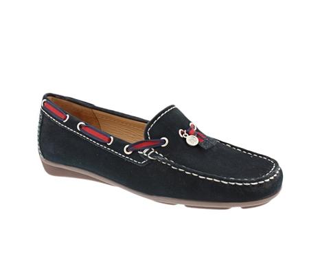Navy Slip-On Tassel Loafers - Faris