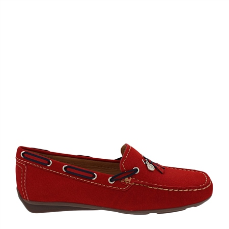 Faris Red Slip-On Tassel Loafers  - Click to view a larger image