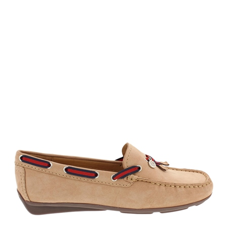 Faris Tan Suede Slip-On Loafers