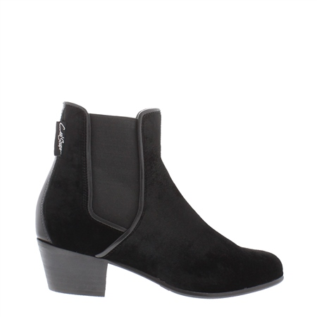 Black Low Heel Chelsea Ankle Boots - Claudia  - Click to view a larger image