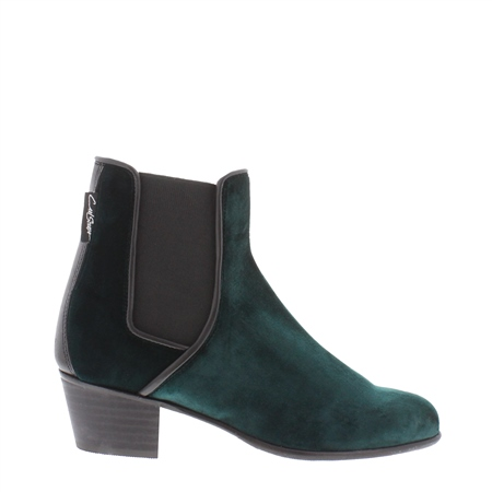 Green Low Heel Chelsea Ankle Boots - Claudia  - Click to view a larger image