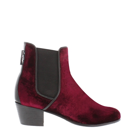 Claudia Burgundy Chelsea Ankle Boots  - Click to view a larger image