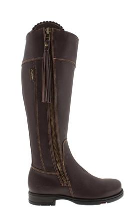 b3784e229c5 Slim Fit Brown Waterproof Country Knee Boots - Natasha