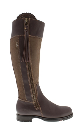 Natasha Brown/Khaki Water-Resistant Country Boots - Standard Fit  - Click to view a larger image