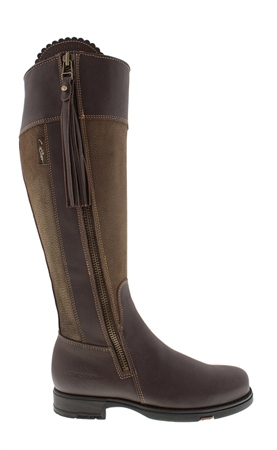 Natasha Brown/ Khaki Water-Resistant Country Boots - Slim Fit  - Click to view a larger image