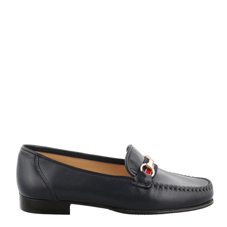 Giana Navy Snaffle Loafers  - Click to view a larger image