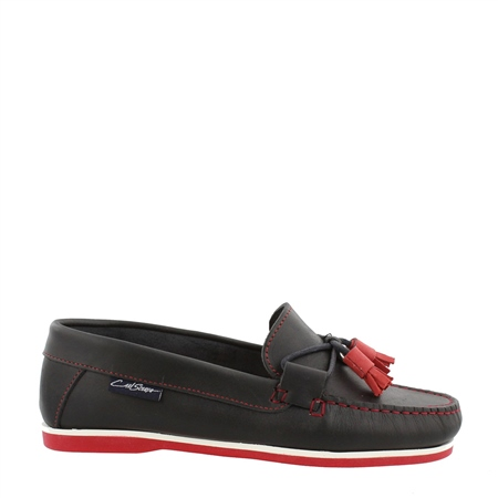 Navy/Red Slip-On Tassel Loafers - Catalina  - Click to view a larger image