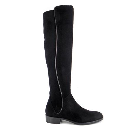 7dea1a4968f Black Flat Knee Boots - Emma