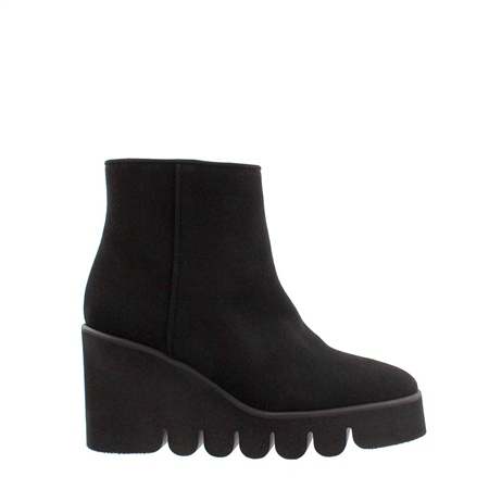 Alena Black Wedge Ankle Boots  - Click to view a larger image