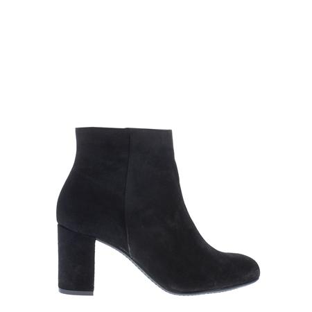 Antonia Black Mid Heel Ankle Boots