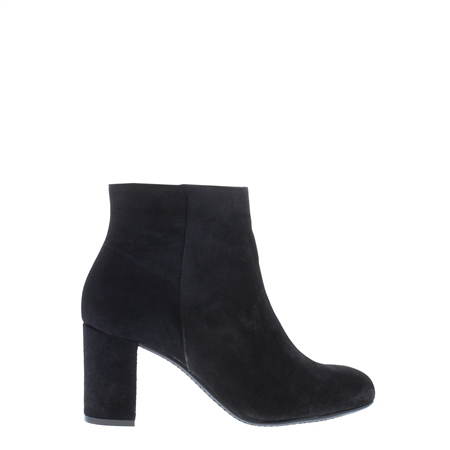 Antonia Black Mid Heel Ankle Boots   - Click to view a larger image