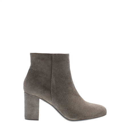 Taupe Mid Heel Ankle Boots - Antonia  - Click to view a larger image